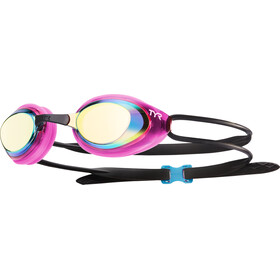 TYR Black Hawk Racing Mirrored Svømmebriller Damer pink/sort